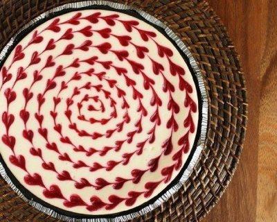 Чизкейк из белого шоколада с малиной 3