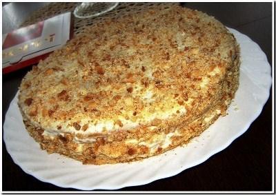 Торт медовый с черносливом 2