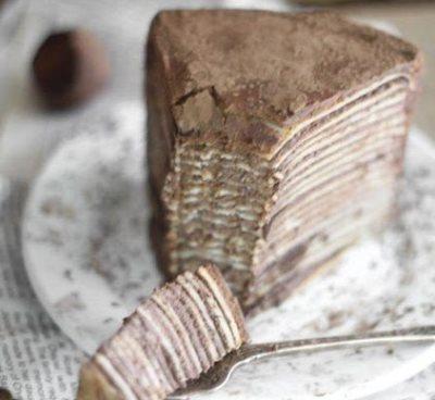 Шоколадный торт из блинов с амаретто 4