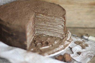 Шоколадный торт из блинов с амаретто 5