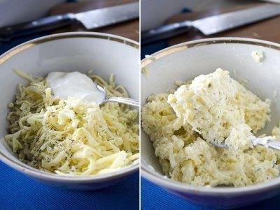 Лепешка из творожного теста с сыром 4