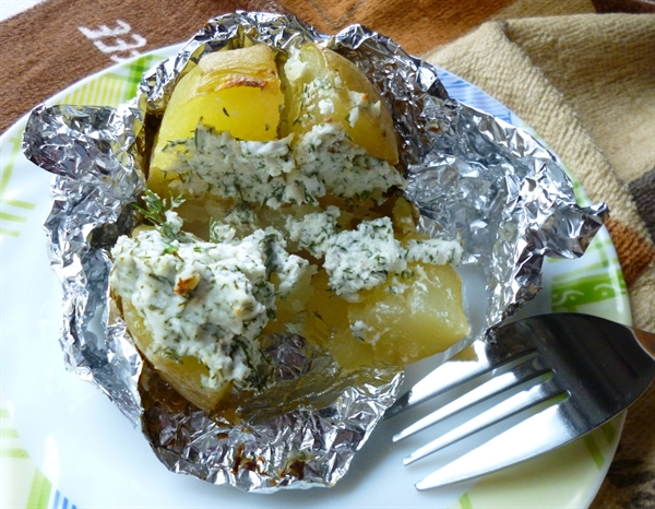Картофель, фаршированный творогом 1