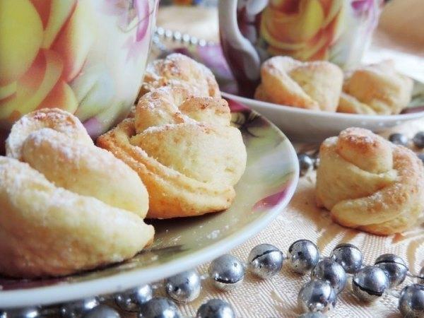 Творожное печенье «Чайная роза» 2