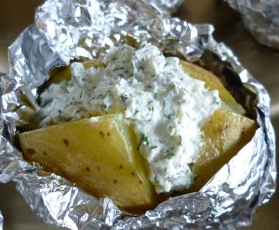 Картофель фаршированный творогом 7