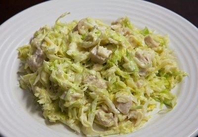 Салат из свежей капусты с курицей 8