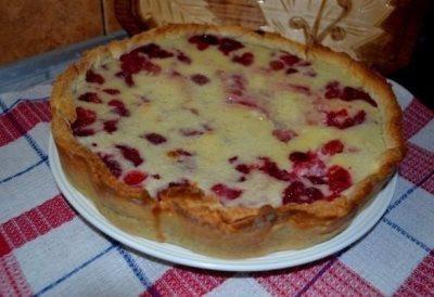 Цветаевский пирог с малиновой начинкой 9